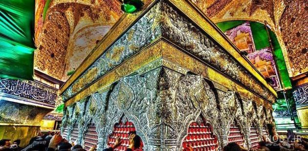 زیباترین عکس از ضریح امام حسین