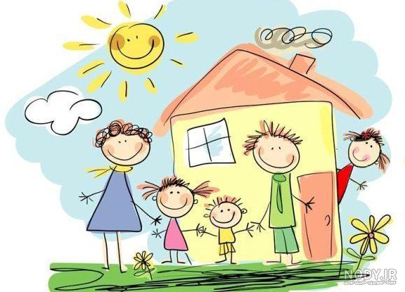 عکس خانوادگی نقاشی