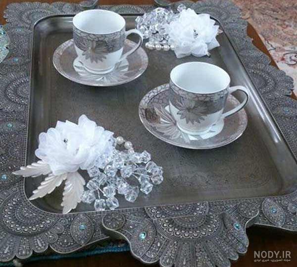 عکس چای تو سینی