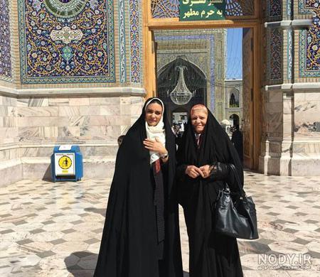 دانلود عکس لیندا کیانی در حرم امام رضا