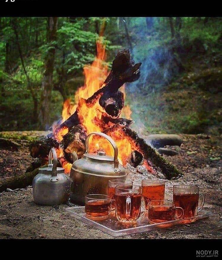 عکس آتش چای