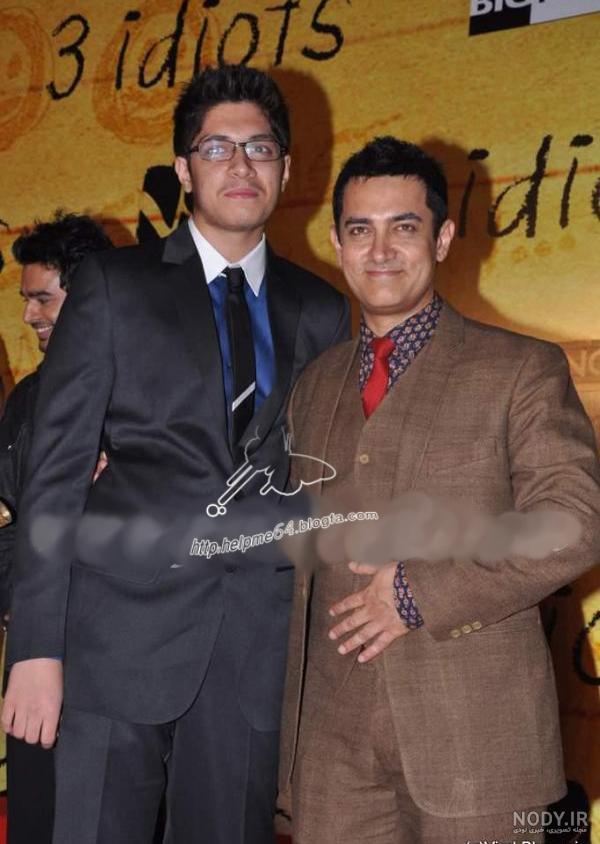 عکس امیر خان و پسرش