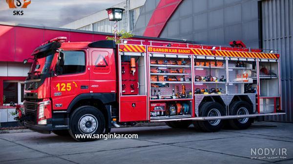 عکس خودرو آتش نشانی