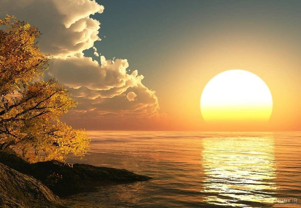 عکس از طلوع و غروب خورشید