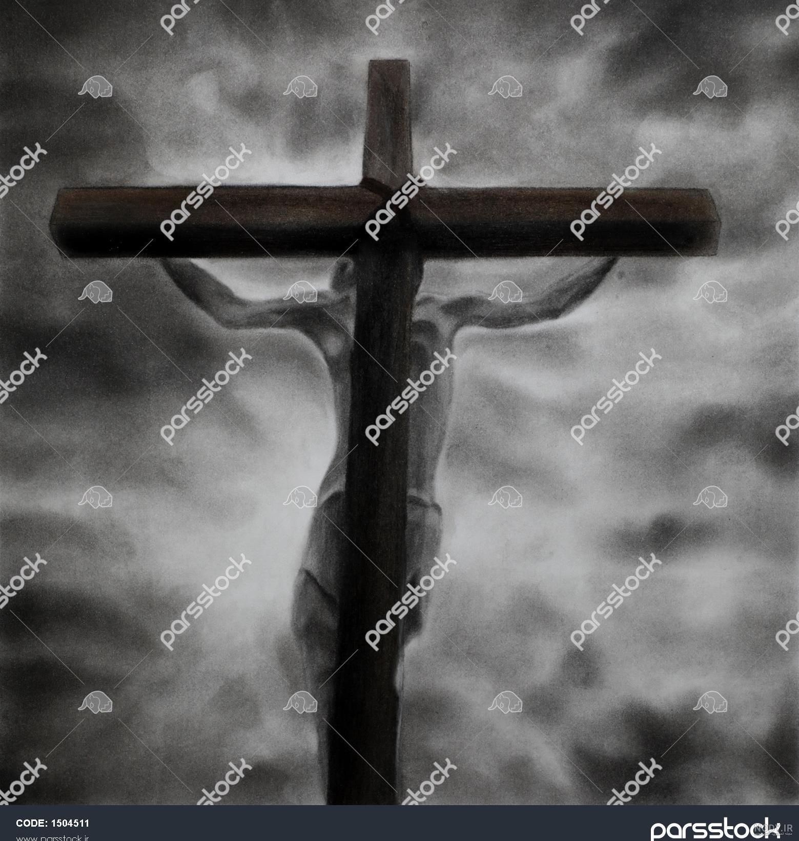 عکس سیاه قلم صلیب