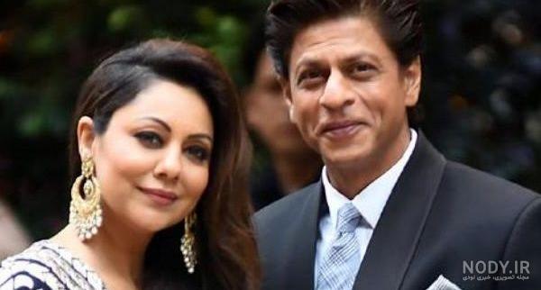 عکس شاهرخ خان و زنش