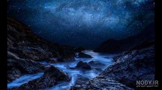 عکس شب طبیعی
