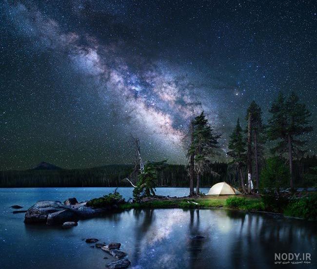 عکس پروفایل طبیعت در شب