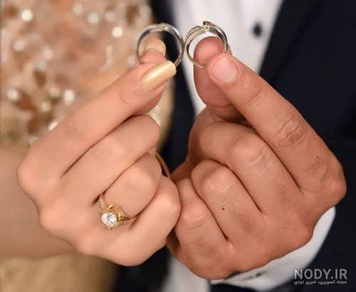 ژست عکس حلقه ازدواج