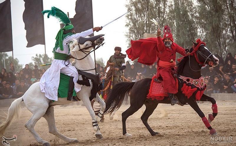 عکس حضرت عباس سوار اسب