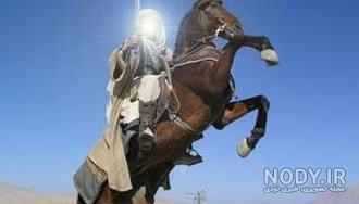 عکس حضرت عباس سوار بر اسب
