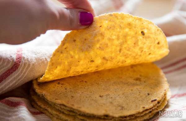 عکس نان ذرت مکزیکی