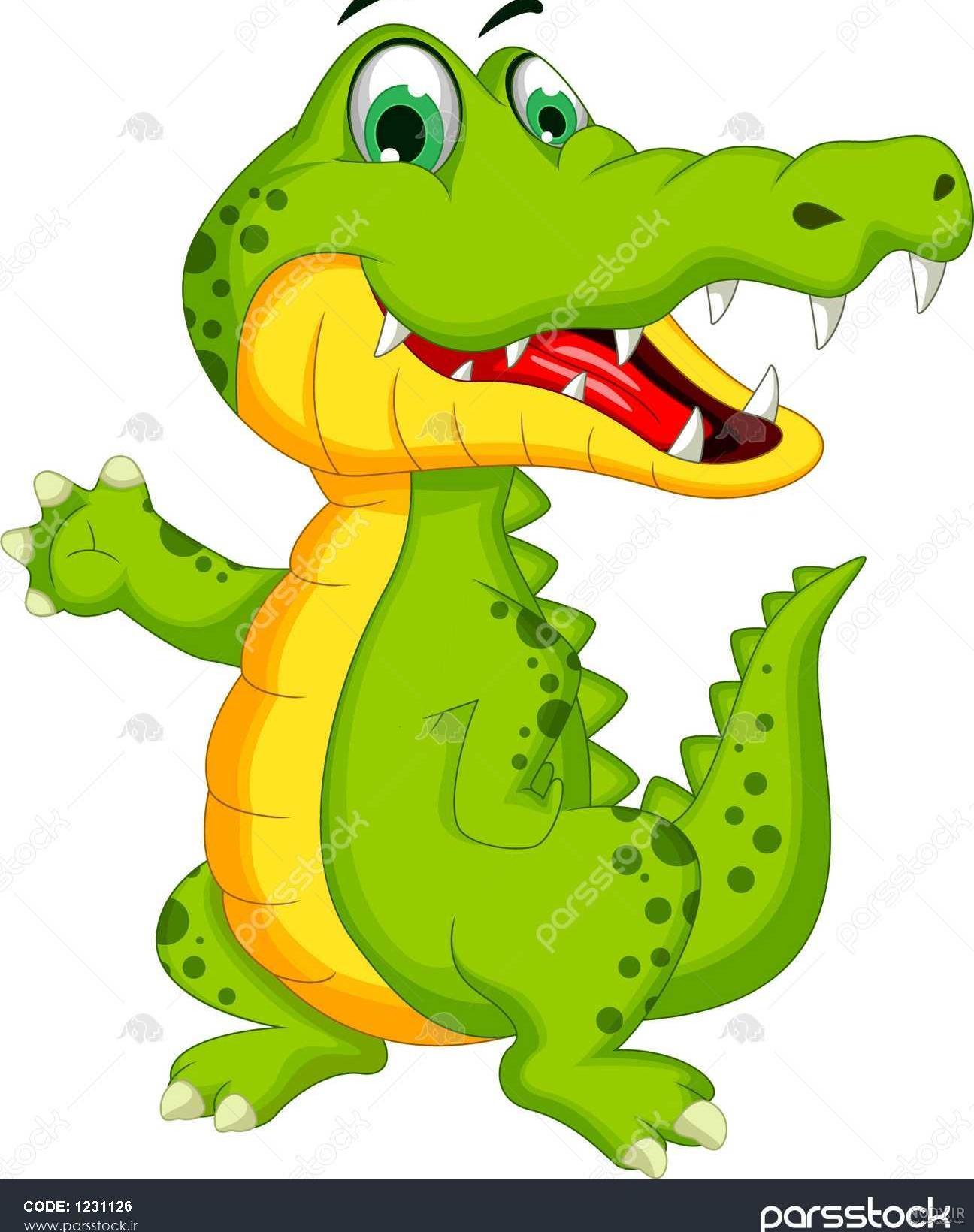 عکس کارتونی تمساح