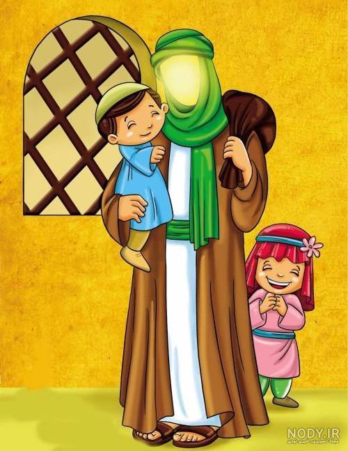 عکس امام علی علیه السلام کارتونی