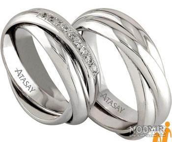 عکس حلقه ازدواج طلا سفید