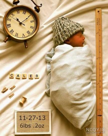 عکس نوزاد با شناسنامه