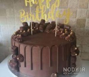 عکس کیک تولد کاکائویی