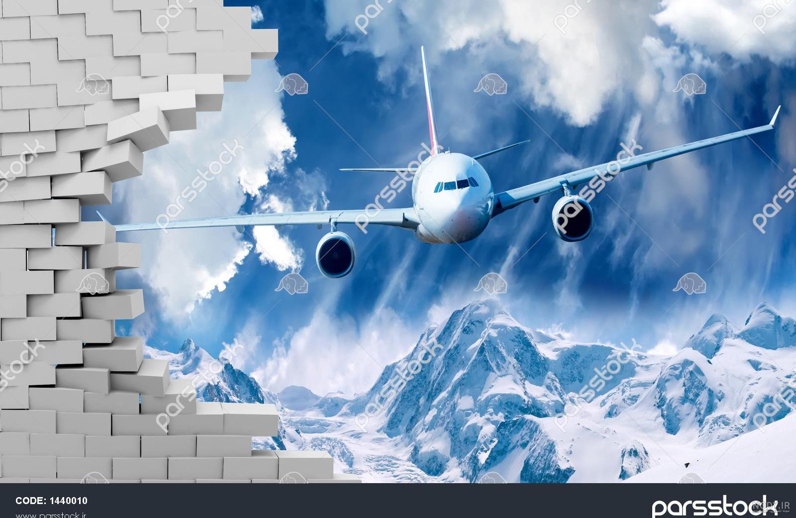 عکس سه بعدی هواپیما