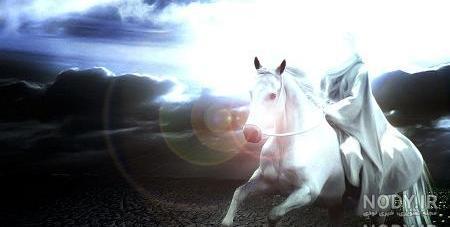 عکس امام زمان سوار اسب