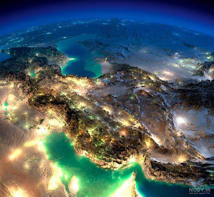 عکس کره زمین در شب