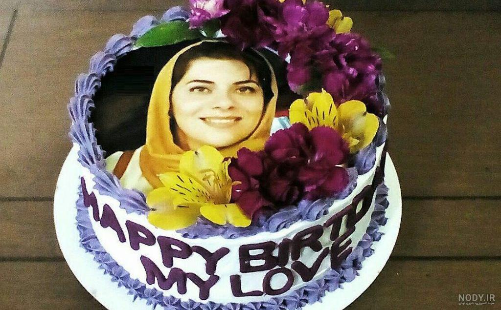 عکس نوشته روی کیک تولد همسر
