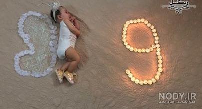 عکس ایده ماهگرد نوزاد با شمع