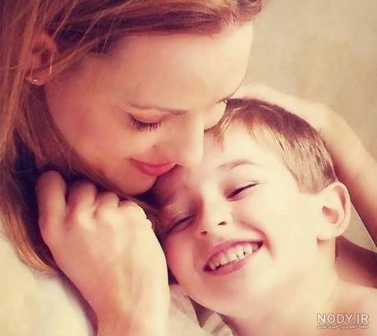 عکس رمانتیک مادر و فرزند