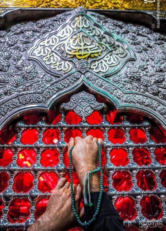 عکس هنری از ضریح امام حسین