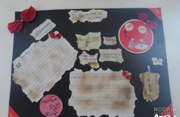 عکس ایده های تزیین روزنامه دیواری های متنوع برای مدرسه
