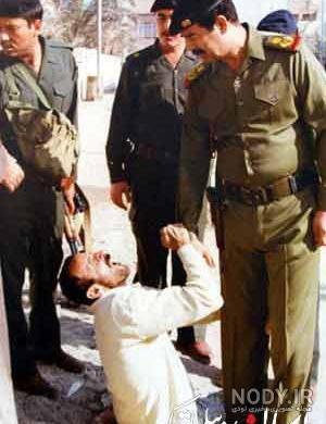 عکس نوشته صدام حسین