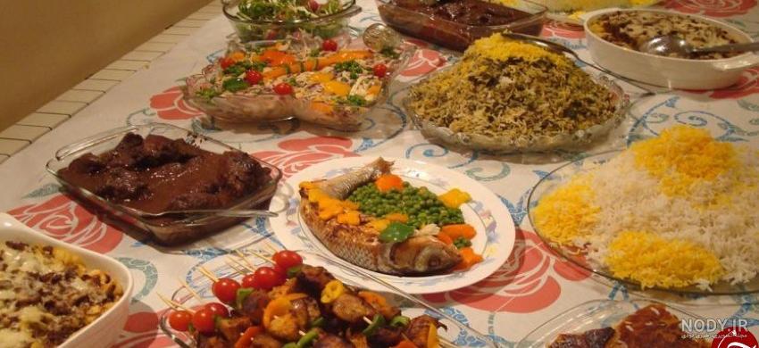 عکس لیست غذاهای ایرانی