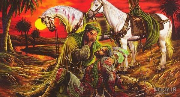 عکس امام حسین و حضرت عباس