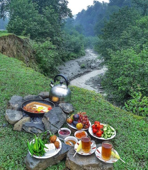 عکس طبیعت صبحانه