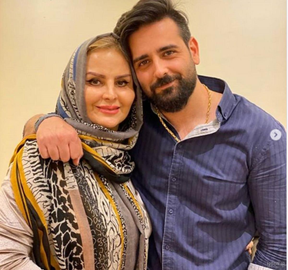 عکس امیرحسین آرمان و مادرش