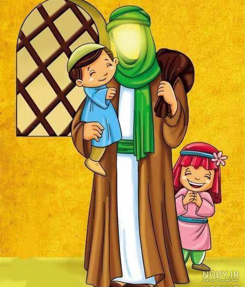 عکس کارتونی امام علی