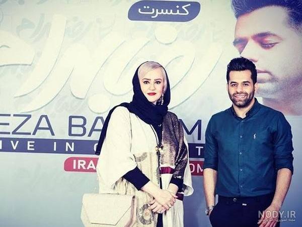 عکس رضا بهرام و همسرش
