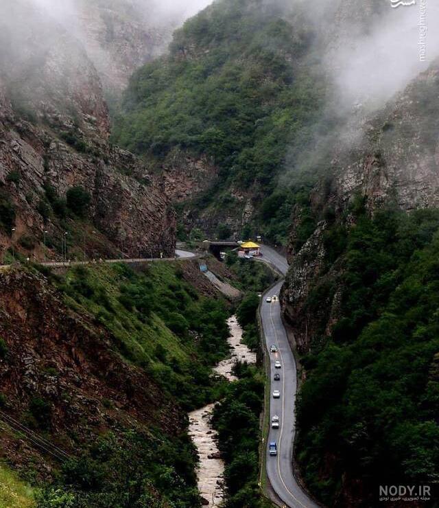 عکس طبیعت زیبای جاده چالوس