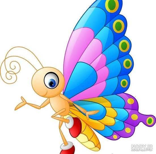 عکس کارتونی پروانه
