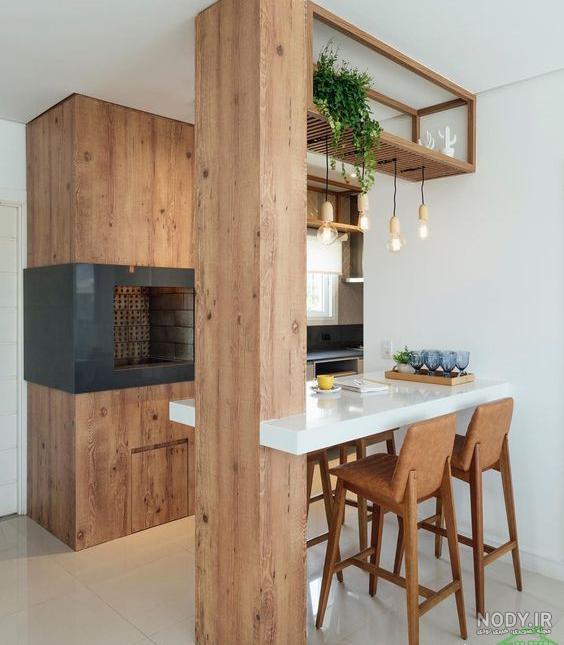 عکس ایده ستون آشپزخانه