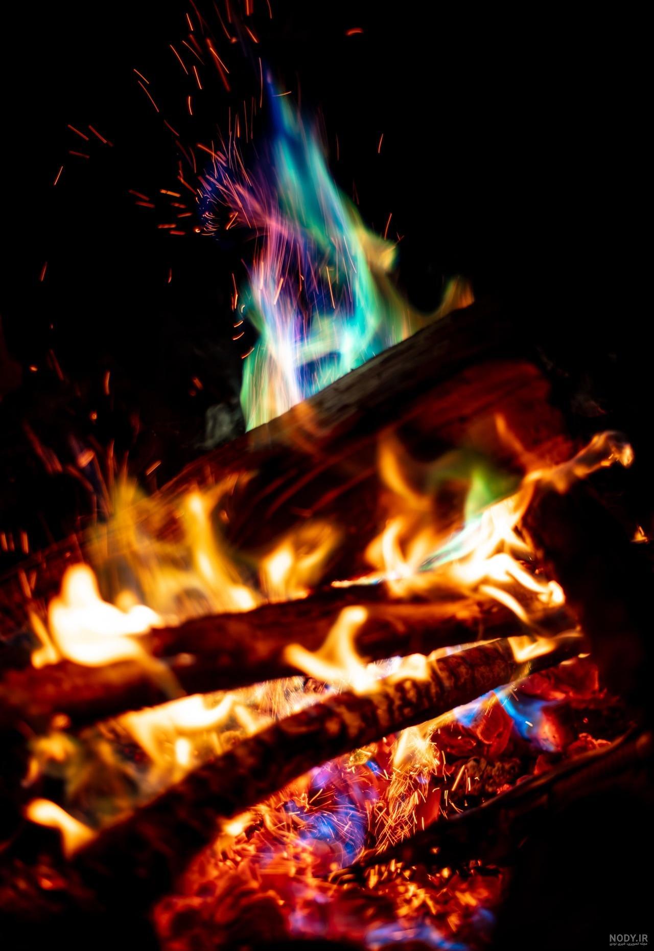 عکس آتش هیزم