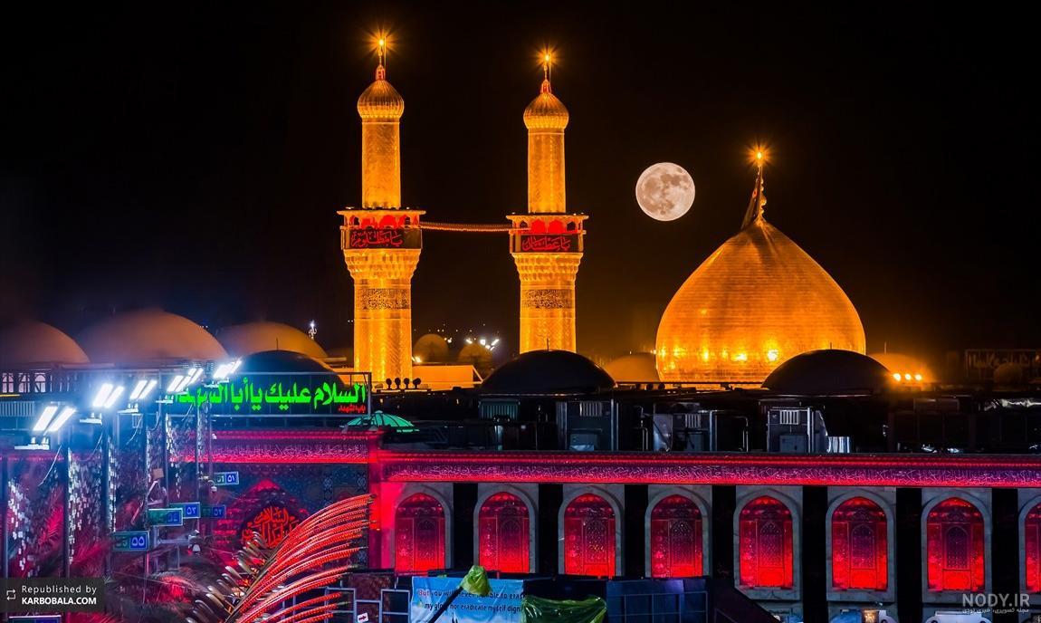 عکس شب حرم امام حسین