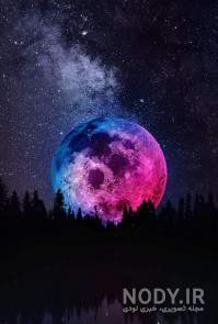 عکس ماه پس زمینه
