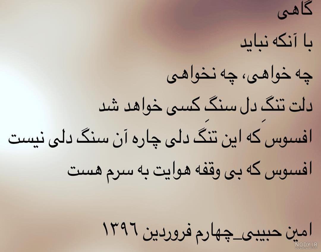 عکس نوشته های امین حبیبی