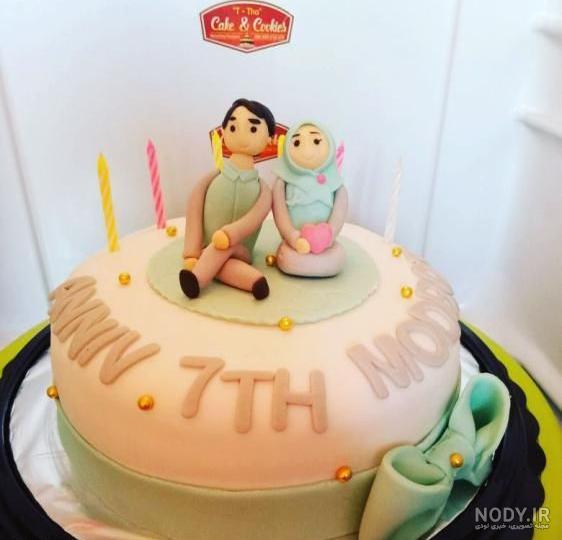 عکس کیک تولد فروردین