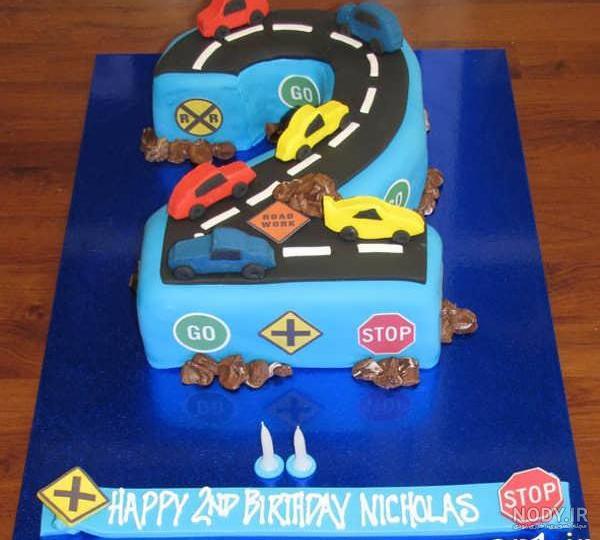 عکس کیک تولد پسرانه دو سالگی
