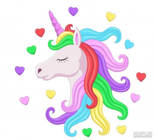 عکس اسب رنگین کمان