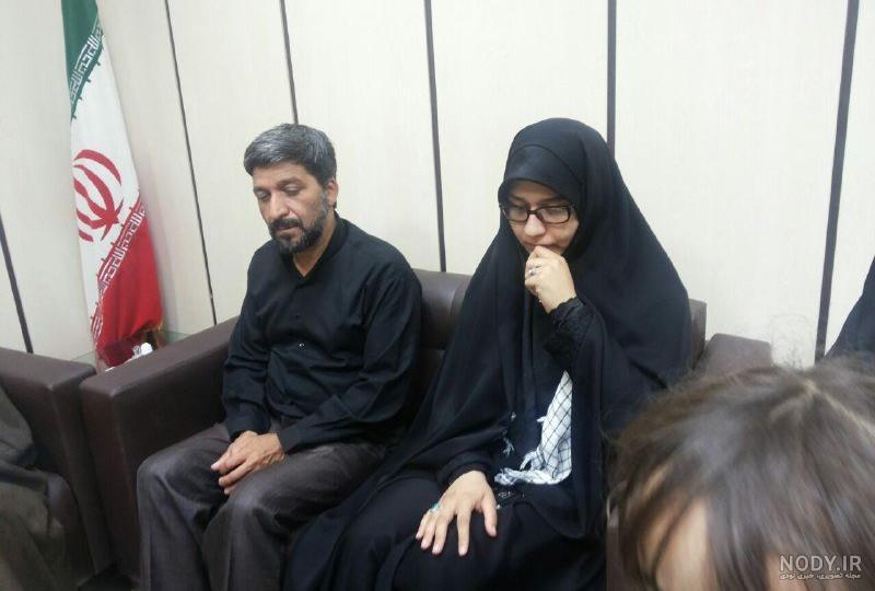عکس شوهر زن شهید حججی
