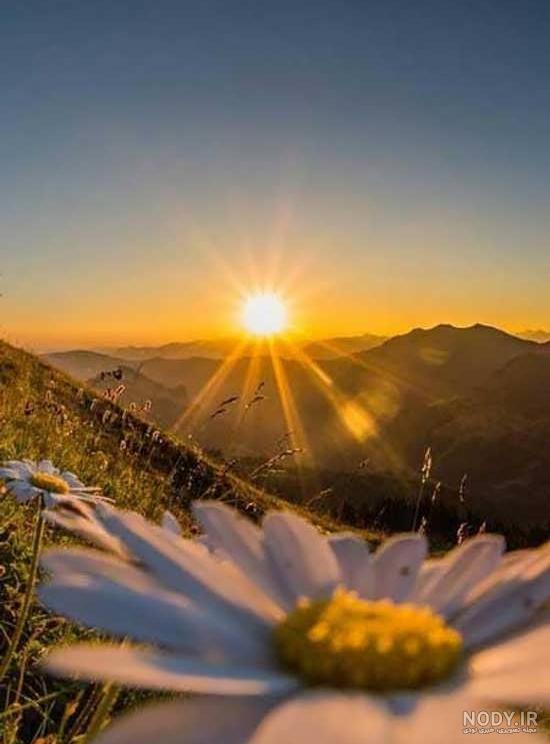 عکس لحظه طلوع خورشید