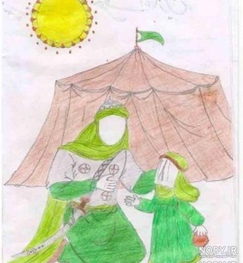 عکس امام حسین نقاشی