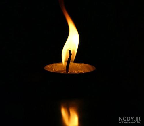 عکس شمع و زمینه سیاه